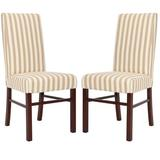 """Red Barrel Studio® Classic 20""""H Side Chair Set Of 2 Upholstered/Fabric in Red/Brown, Size 40.0 H x 19.0 W x 24.0 D in 