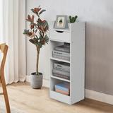 Latitude Run® Bookshelf Wood in White, Size 35.4 H x 13.0 W x 9.5 D in   Wayfair CEDF414534AD487AAAD26848BC96D5A5