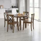 Sand & Stable™ Captiva 4 - Person Dining Set Wood in Brown, Size 29.5 H in | Wayfair FA870026DCA34D88954F686CCAAA66FC