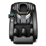 Inbox Zero Full Body Electric Shiatsu Massage Chair w/ Heat-Therapy Warm Massage Rollers Faux Leather in Black, Size 46.0 H x 57.0 W x 30.0 D in