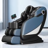 Inbox Zero Full Body Electric Shiatsu Massage Chair w/ Heat-Therapy Warm Massage Rollers in Blue/Green, Size 46.0 H x 30.0 W x 57.0 D in   Wayfair