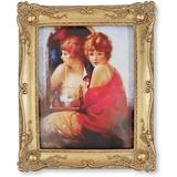 Rosdorf Park Vintage Picture Frames Floral Relief, Wall & Tabletop Frames in Yellow, Size 10.5 H x 8.0 W x 1.2 D in | Wayfair