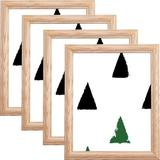 August Grove® Whipholt 4 Piece Wood Gallery Wall Set w/ Frame Set in Raw Wood in Brown, Size 13.25 H x 0.75 D in | Wayfair
