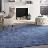 Orren Ellis Contemporary Runner Rug, 4' X 6' in Blue/Brown/Navy, Size 60.0 W x 0.25 D in   Wayfair 67B86126AB9C4C81AB00ED11AC9BBBCE
