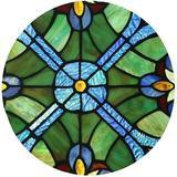 Fleur De Lis Living Stained Glass Window Panel in Blue, Size 12.0 H x 12.0 W x 0.0394 D in | Wayfair 9CE07278082D421F849C21B4CA7757C7