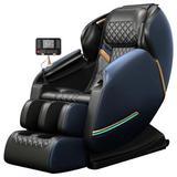 Inbox Zero Full Body Electric Shiatsu Massage Chair w/ Heat-Therapy Warm Massage Rollers in Blue, Size 30.0 D in | Wayfair