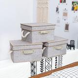 Longshore Tides Foldable Storage Boxes w/ Lids & Cotton Rope Handles, Size 10.4 H x 17.1 W x 12.0 D in   Wayfair 351311E8746B4554A04992738B7B799E