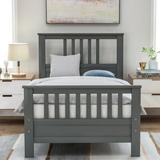 Red Barrel Studio® Solid Wood Platform Bed w/ Headboard & Footboard, Full Size Platform Bed Frame Mattress Foundation w/ Wood Slat Support & 6 Legs