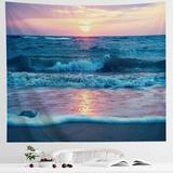 Rosecliff Heights Ocean Tapestry Wall Hanging in Brown, Size 60.0 H x 82.7 W x 0.0 D in   Wayfair 64A0A1FCCBC0447CAD6E1D306F9606C0