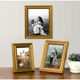 Red Barrel Studio® Rustic Picture Frame For Table Display Set Of 3 Table Photo Frames Perfect For Table Decorations in Yellow | Wayfair
