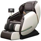 Inbox Zero Full Body Electric Shiatsu Massage Chair w/ Heat-Therapy Warm Massage Rollers in Gray, Size 30.0 D in | Wayfair