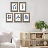 Loon Peak® Picture Frames Set Of 5 Wooden Picture Frames w/ Real Glass in Gray, Size 9.1 H x 7.0 W x 0.9 D in | Wayfair