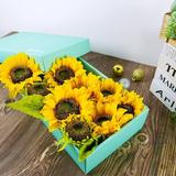 Primrue Sunflowers Artificial Flowers,Fake Sunflowers,Silk Sunflowers w/ Stems For Decoration,Outdoors,Room Decor,Weeding in Yellow | Wayfair