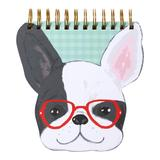Punch Studio Frenchie Glasses Notepad, Multicolor