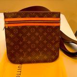 Louis Vuitton Bags   Authentic Louis Vuitton Bosphore Pochette Adjustable Crossbody Bag   Color: Brown   Size: W- 10 Inches H- 10 Inches
