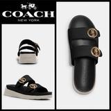 Coach Shoes   Leather Gable Sandal   Color: Black   Size: 9