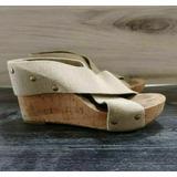 Lucky Brand Miller Wedge Sandals Canvas Straps