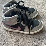 Nike Shoes | Nike Air Jordan Phat Girls Shoes 11c High Top | Color: Black/Silver | Size: 11g