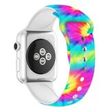 Nayu Replacement Bands Tie - Pink & Blue Tie-Dye Silicone Band Replacement for Apple Watch