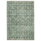 Nikki Chu Razi Oriental Green/Tan Area Rug Polyester in Brown/White, Size 30.0 W x 0.29 D in | Wayfair RUG152581