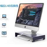 "long_ye_da Unibody Computer Riser w/ Keyboard Storage Space, Desktop Stand Base Up To 27"" Screens For PC, Laptop, Printer in Blue   Wayfair"