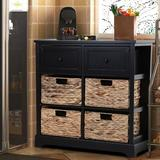 Rosalind Wheeler 6 - Drawer Accent Chest Wood in Black, Size 27.9 H x 28.8 W x 13.0 D in | Wayfair EC0F4782C6234D11ADFE1BC206AEC5B4