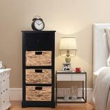 Rosalind Wheeler 4 - Drawer Accent Chest Wood in Black, Size 36.2 H x 15.8 W x 13.0 D in | Wayfair B03A3B1409264C3884F0479BA559F22A