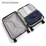 Rebrilliant Makeup Bag Cosmetic Bag Large Toiletry Bag Travel Bag Case Organizer For Women in Blue, Size 6.0 H x 12.5 W x 5.75 D in   Wayfair