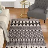 Foundry Select Boho Cotton Throw Area Rug in White, Size 36.0 W x 0.26 D in | Wayfair 6A82DCA117E8414A95EAE5C8E522E1A4