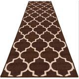 Red Barrel Studio® Resistant Carpet Runner – Moroccan Trellis Lattice in White, Size 26.0 W x 0.2 D in   Wayfair E6C4DF907DA642DA95CE4F0698521458