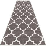 Red Barrel Studio® Resistant Carpet Runner – Moroccan Trellis Lattice in White, Size 26.0 W x 0.2 D in   Wayfair F07FE4F680E04F96B028B9785494D954