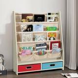 Latitude Run® Book & Toys Organizer Shelves Wood in Brown, Size 34.0 H x 28.0 W x 11.0 D in | Wayfair 4A2EA470C8F84D9380F46A23D193BB13