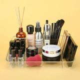 Rebrilliant Makeup Organizer Tray Cosmetic Display Case Office Stationery Storage Holder Countertop Storage Unit Makeup Box For Bathroom Drawers