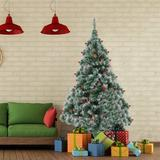 The Holiday Aisle® 6Ft Pre-Decorated Holiday Christmas Tree For Home, Office, Party Decoration W/600PVC Branch Tips, Partially Flocked Design