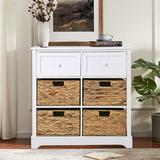 Rosalind Wheeler 6 - Drawer Accent Chest Wood in White, Size 27.9 H x 28.8 W x 13.0 D in | Wayfair 449CBAA55C2A4D718917FED0FEBDCBE6