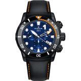 Chronograph Quartz Blue Dial Watch Tinno Buin - Blue - Edox Watches