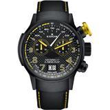Chronograph Quartz Black Dial Watch Tinnj Nj3 - Black - Edox Watches