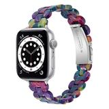BXD Replacement Bands Purple - Purple & Green Marble Resin Band Replacement for Apple Watch
