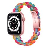 BXD Replacement Bands Rainbow - Jewel-Tone Marble Resin Band Replacement for Apple Watch
