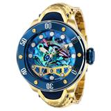 Invicta Reserve Kraken Automatic Men's Watch w/ Metal Oyster Mother of Pearl Abalone Dial - 54mm Gold Blue (36391)