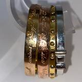 Kate Spade Jewelry   Kate Spade New York Rose Gold Gold Silver Bow Bangle Bracelets   Color: Gold/Silver   Size: Os