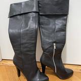 Michael Kors Shoes | Michael Kors Over The Knee Black Leather Boots | Color: Black | Size: 9.5