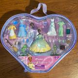 Disney Toys | New Disney Parks Tiana Princess Fashion Set Mini Dress Up Doll Rare | Color: Red | Size: 4