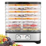 LEANO LIMITED 400W 8 Layers Stackable Trays Food Dehydrator Machine Multi-Layer Food Preserver in Black, Size 14.1 H x 12.6 W x 9.84 D in | Wayfair