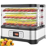 LEANO LIMITED 12.6 X 14.1 Inch 8 Layers Stackable Trays Food Dehydrator Machine Electric Multi-Layer Food Preserver in Black | Wayfair