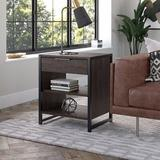 Kathy Ireland Home by Bush Furniture Kathy Ireland® Home By Bush Furniture Atria Small End Table w/ Drawer And Shelves Wood in Gray | Wayfair