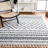 Dakota Fields Runner Southwestern Gray/Ivory Area Rug Polypropylene in White, Size Rectangle 9' x 12' | Wayfair 12811105554A401D8F76A0775B4BD497
