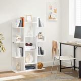 "Loon Peak® Bookshelf, Tree-Shaped Bookcase w/ 13 Storage Shelves, Rounded Corners, 33.9""L X 9.8""W X 55.1""H, Rustic Brown Wood in White | Wayfair"