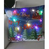 Y.F. Pillow Cases colorful - Red & Blue Reindeer LED Light-Up Throw Pillow Cover