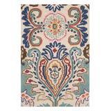 SAFAVIEH Rugs Indoor Rugs IVORY - Ivory & Blue Nolita Hand-Tufted Wool Rug